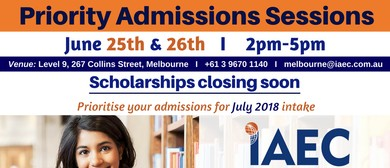 Priority Admissions Sessions