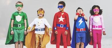Kids Superhero Themed Disco