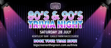 80's & 90's Trivia Night – Big Screen On the Green
