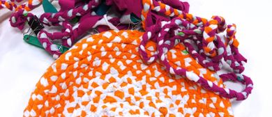 Plaited Rag Rug Sampler – Eco-Art Workshop for Adults
