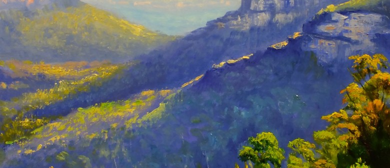 Full Day Oil Painting Class – Painting Blue Mountains