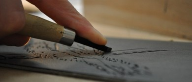 Hand Coloured Linocut Art Craft Workshop
