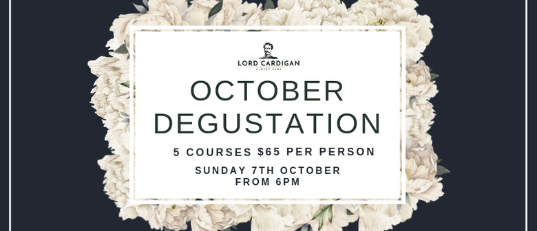 October Degustation