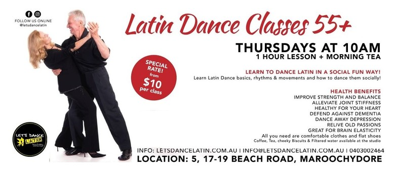 Latin Dance Classes for 55+