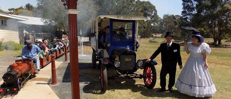 Miniature Train & Vintage Bus Running Day