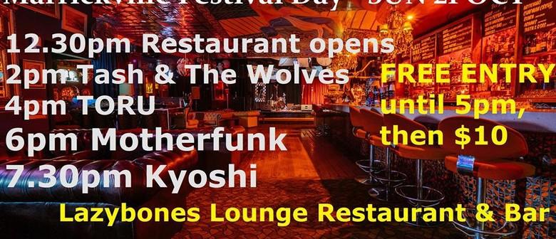 Kyoshi, Motherfunk, Toru and Tash And The Wolves
