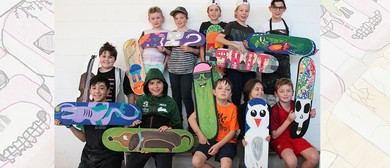 Skateboard Deck Painting Workshop for Kids