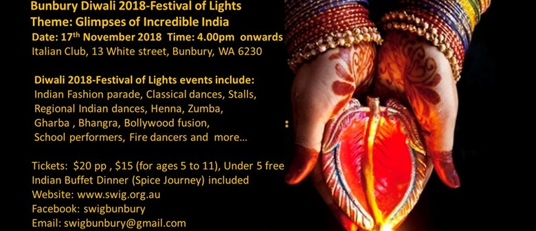 Bunbury Diwali 2018 – Festival of Lights