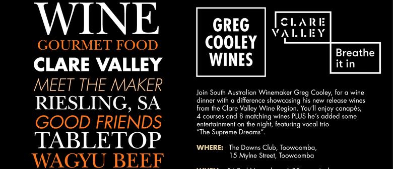 Greg Cooley Wines, Wine Dinner
