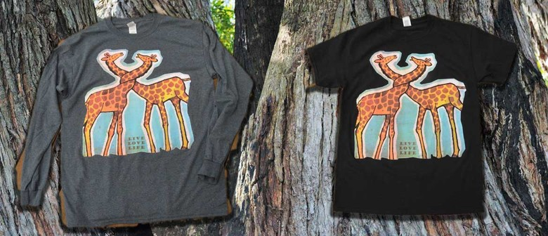 David Bromley Design Limited Edition T-shirt Giraffes