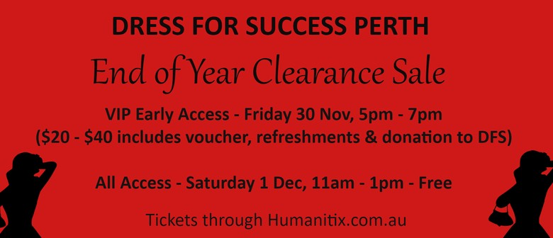 Dress for Success End of Year Clearance Sale