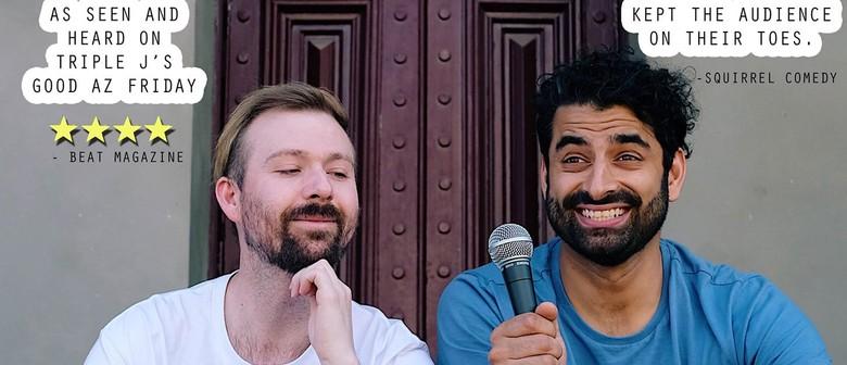 Comedy – Perri Cassie & Firdi Billimoria – 2 Boys 1 Mic