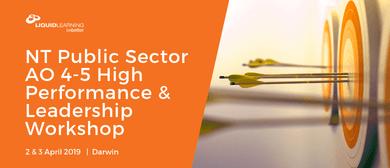 NT Public Sector AO 4–5 Leadership Workshop