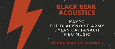 Black Bear Acoustics – Dylan Cattanach, Fieu Plus More