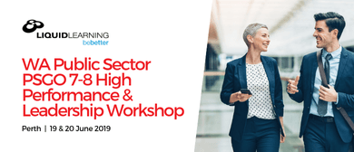 WA Public Sector PSGO 7–8 High Performance Workshop