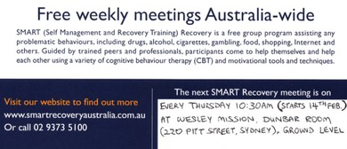 SMART Recovery Meeting for Problem Behaviours