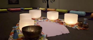 Sound Meditation Session W/ Crystal Singing Bowls & Chimes