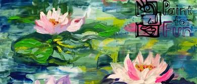 Monet Water Flowers – Fun, Social Painting Class