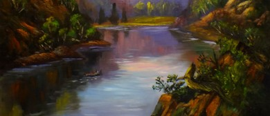 Full Day Class Painting Water reflections in oils