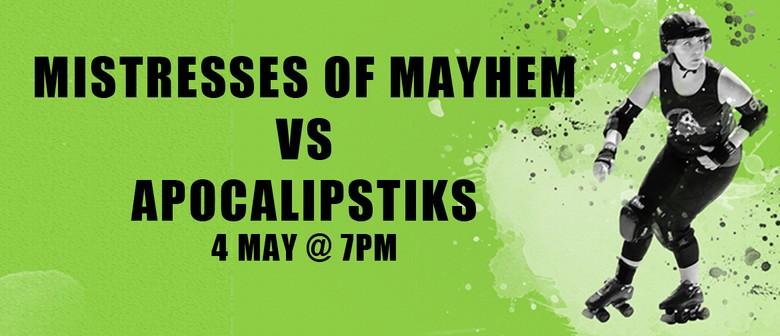 Perth Roller Derby – Bout 2 Mayhems vs Apocalipstiks