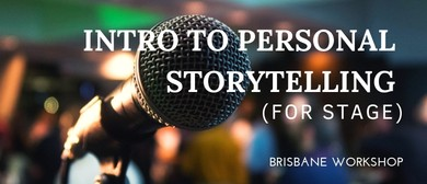 Intro to Personal Storytelling Workshop