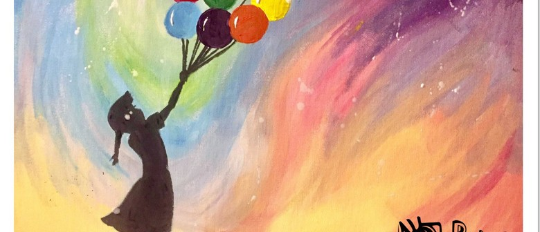 Paint Like Banksy – Dine In Painting Class