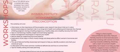 Women's Health Workshop: Hormones, Fertility & Preconception