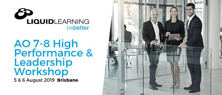 AO 7–8 High Performance & Leadership Workshop