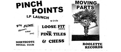 Pinch Points LP Launch With Loose Fit, Pink Tiles, Chess