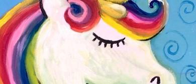 Rainbow Unicorn – Dine In Family Painting Class