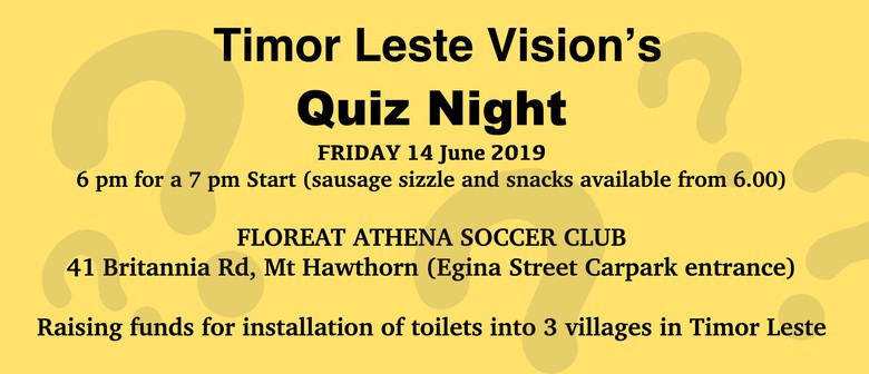 Timor Leste Vision's Quiz Night