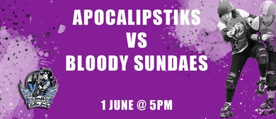 Perth Roller Derby – Bout 3 Apocalipstiks vs Bloody Sundaes