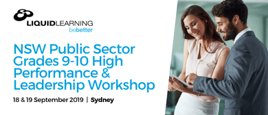 NSW Public Sector Grades 9–10 High Performance Workshop