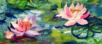 Monet Waterflowers – Beginners Painting Class