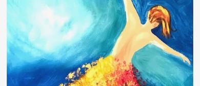 Golden Fairy – Dine In Beginner's Painting Class