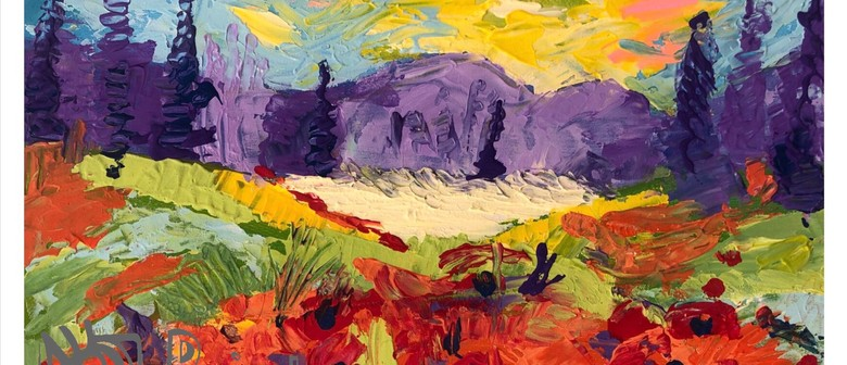 Poppies In Paradise – Dine In Painting Class