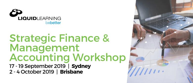 Strategic Finance & Management Accounting Workshop