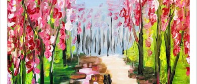 Cherry Blossom – Dine, Sip and Paint Class