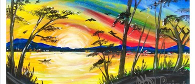 Fisherman at Sunrise – Dine In Painting Class