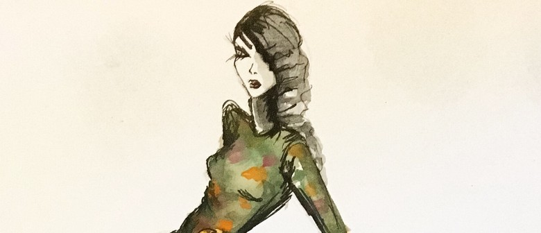 Fashion & Floral Watercolour Illustration With Estelle