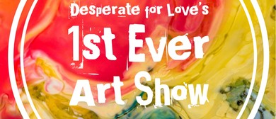DFL's 1st Ever Art Show With Dogs & Champagne