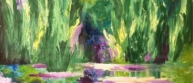 Paint Like Monet - Palette Knife Class (Dine In)