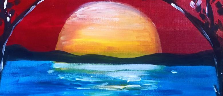 Beach Sunset - Pancake, Sip and Paint