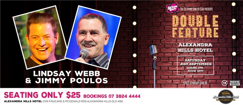 Comedy Double Feature – Lindsay Webb & Jimmy Poulos