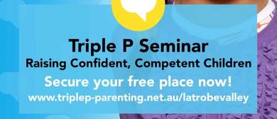 Triple P – Raising Confident, Competent Children Seminar