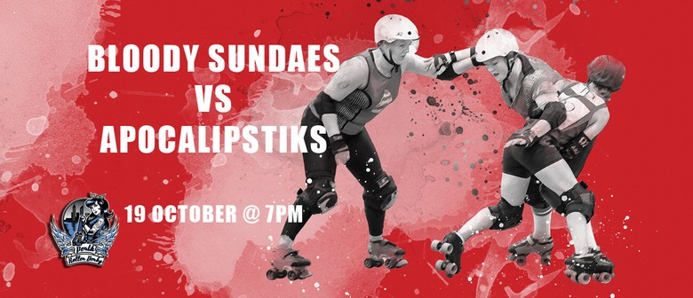 Perth Roller Derby – Bout 6 Bloody Sundaes Vs Apocalipstiks
