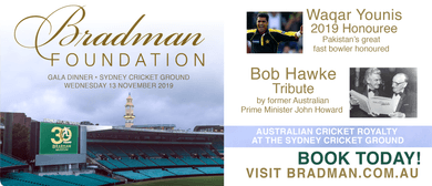 Bradman Foundation Gala Dinner 2019