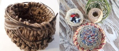 Basket Weaving With Re-Purposed Fabrics