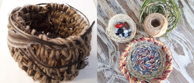 Basket Weaving With Re-Purposed Fabrics
