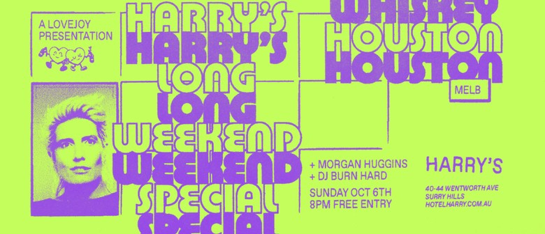 Harry's: Lovejoy Long Weekend Takeover